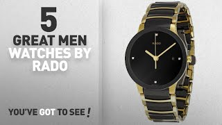 Top 10 Rado Men Watches [ Winter 2018 ]: Rado Men's R30929712 Centrix Jubile Gold Plated Stainless