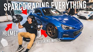 INSTALLING SPARCO RACING SEAT IN THE DRIFT BRZ! *SPARCO RACING HAUL*