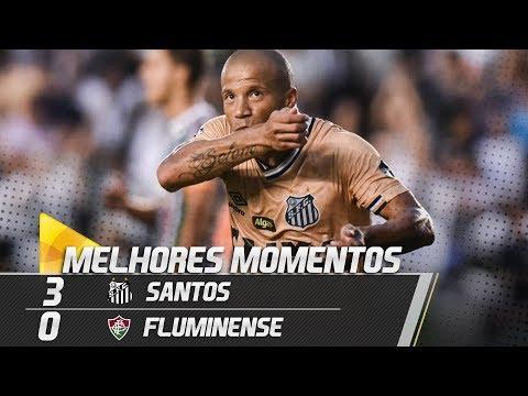 Santos 3 x 0 Fluminense | MELHORES MOMENTOS | Brasileirão (27/10/18)