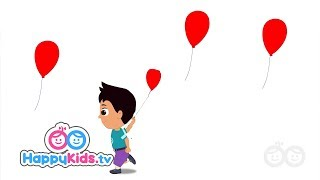 Red Balloon Song - Learning Songs Collection For Kids And Children