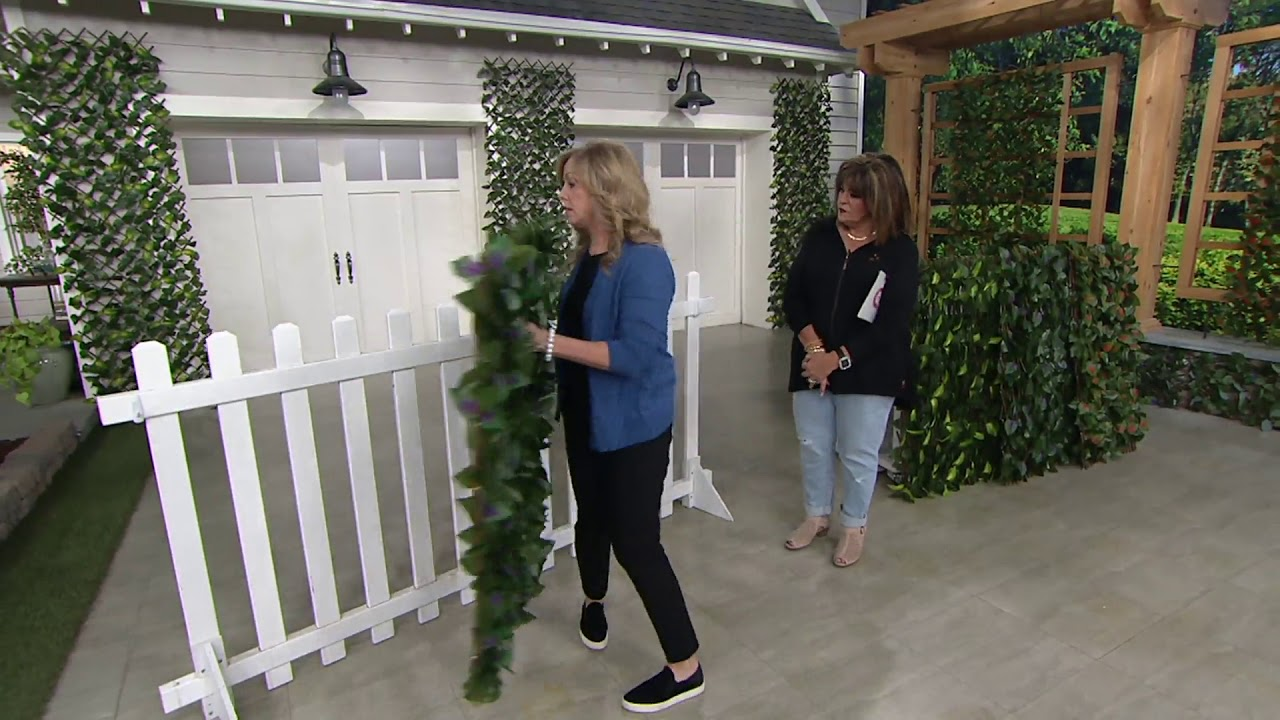Compass Home Expandable Faux Ivy Privacy Fence with ...