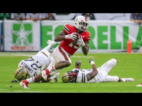 Miami Hurricanes Highlights VS Pittsburgh