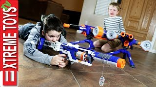 Family Nerf Wars Part 5! Ethan and Cole Sneak Attack Squad Vs. Mom and Dad! thumbnail