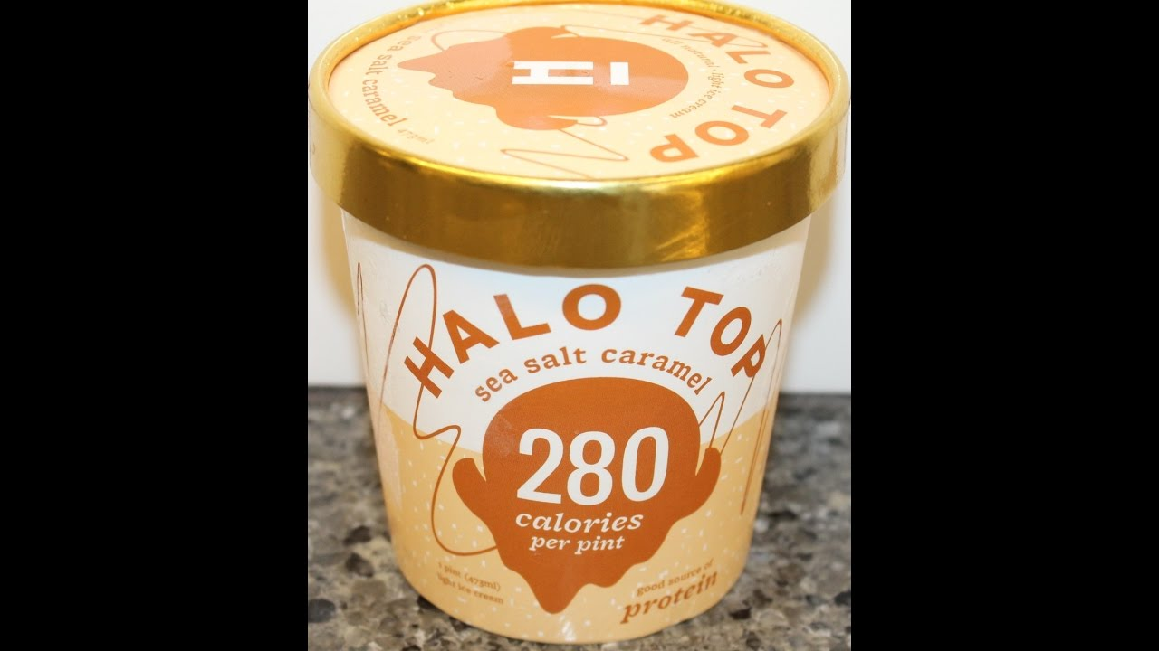 Halo Top Sea Salt Caramel Ice Cream Review YouTube