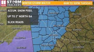 Winter Storm Watch in effect in metro Atlanta