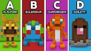 Minecraft A a Z: EU CONSTRUÍ UM POKEMON PARA CADA LETRA DO ALFABETO!