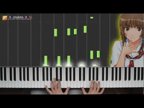 kimikiss pure rouge OST - Sono me ni Utsuru Mono - piano solo - HD 100 subz special