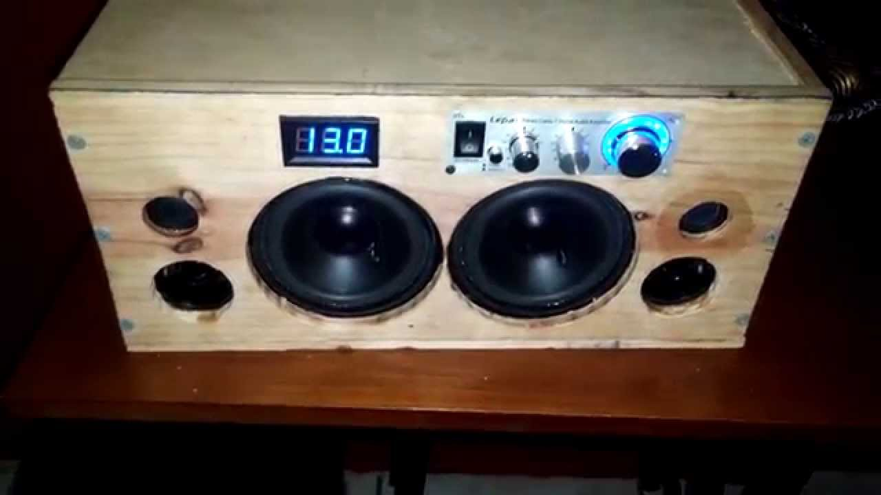 Homemade Portable Bluetooth Boombox Boombox Diy Bluetooth Speaker Portable Speaker