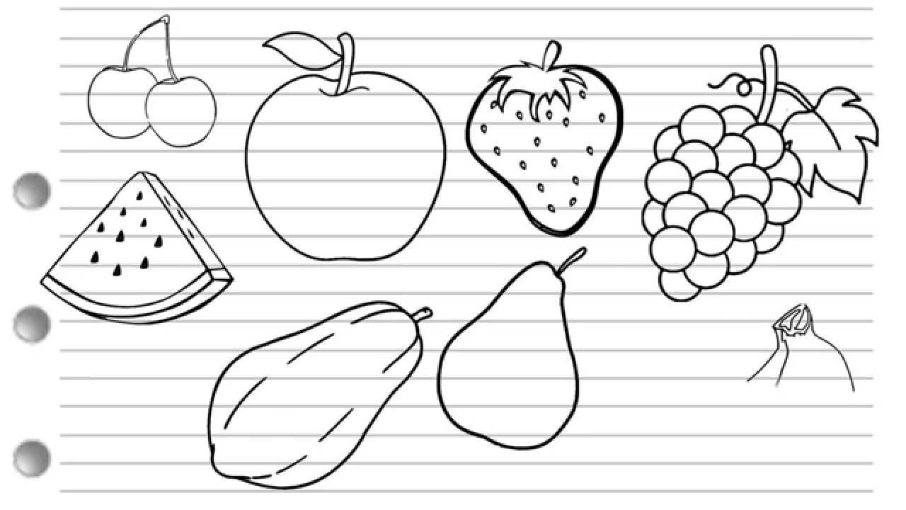 How To Draw Fruits Youtube