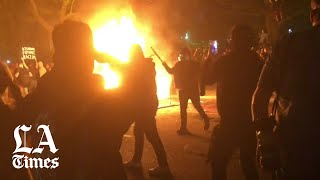 Police tear gas protesters near the White House