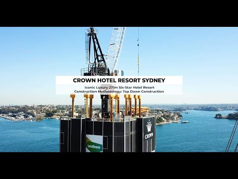 Crown Hotel Resort Sydney - Top Down Construction Basement P