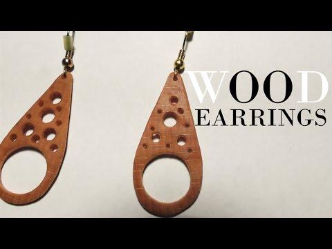 Making super thin beautiful Wood-Earrings