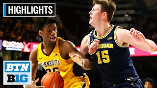 Highlights: Oturu Leads Gophers to Upset Win Over Michigan | Michigan at Minnesota | Jan. 12, 2020