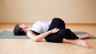 Yoga practice to release tension in the piriformis muscle