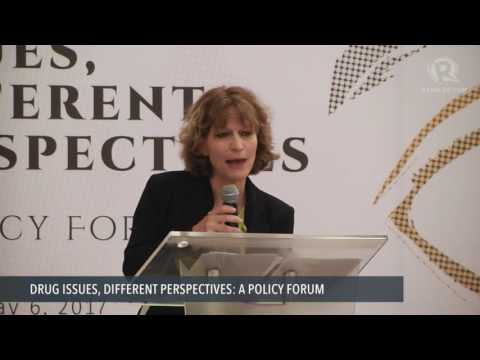 UN special rapporteur Agnes Callamard delivers keynote address at drug policy forum