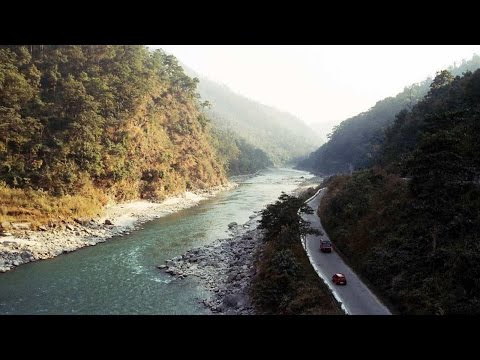Dangerous Car Driving On The Mountain Road - Bhutan