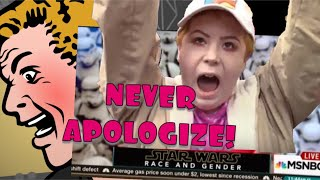 NEVER, EVER APOLOGIZE TO STAR WARS SJWs!!  BECAUSE THIS HAPPENS!