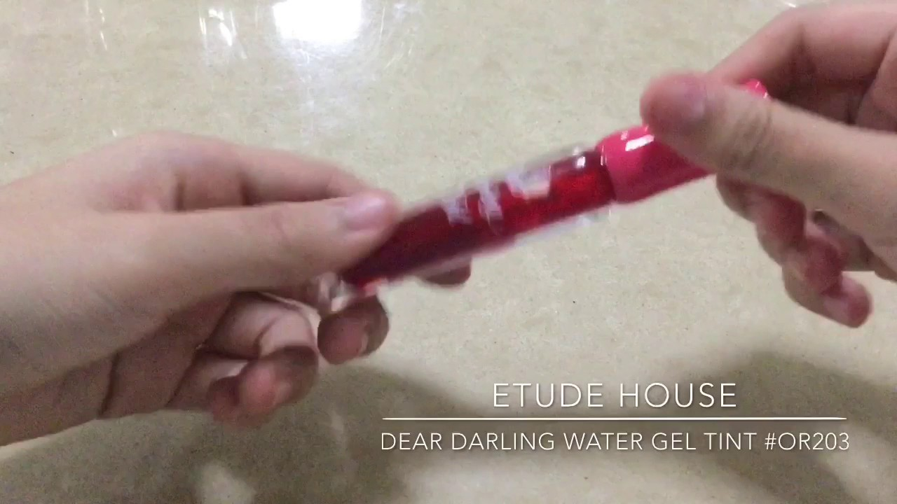 Etude House Dear Darling Water Gel Tint Swatches Or203 Pk003 Youtube Pk002
