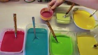 как сделать #пальчиковые краски DIY Finger Paints