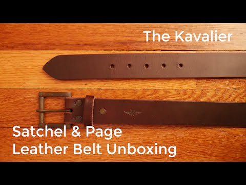 The Highest Quality Leather Belt? Satchel and Page Unboxing