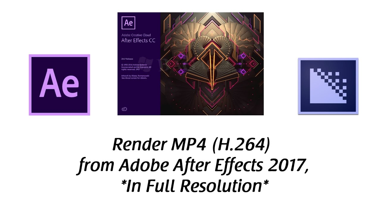 how to render in mp4 adobe after effects
