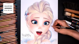 Drawing Frozen2 - Elsa [Drawing Hands]