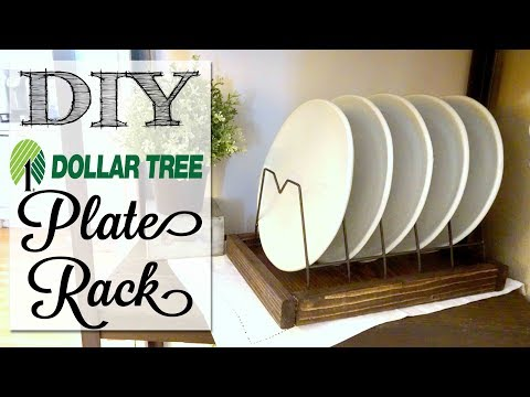 DIY Dollar Tree Farmhouse Plate Rack