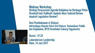 Pembahasan & Diskusi Oleh Adriandjaya Kepala Seksi Unit Hukum BPJS Kesehatan