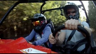 My wife will never drive with me again!  She's not happy on my RZR 900XP!