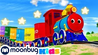 Learn Colors Train Songs | Little Baby Bum | Trains for Children | Train Song | Moonbug for Kids