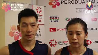 Peng Soon-Liu Ying vow to improve | Post-match comments | #PMM2020