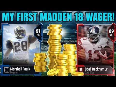 MY FIRST MADDEN 18 WAGER! 91 MARSHALL FAULK CARRIES THE TEAM! 15K WAGER ! | MADDEN 18 WAGERS