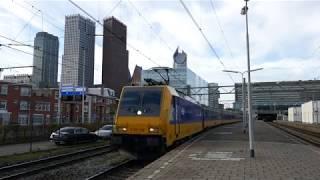 NS TRAXX ICR Intercity rijdt uit station Den haag Centraal