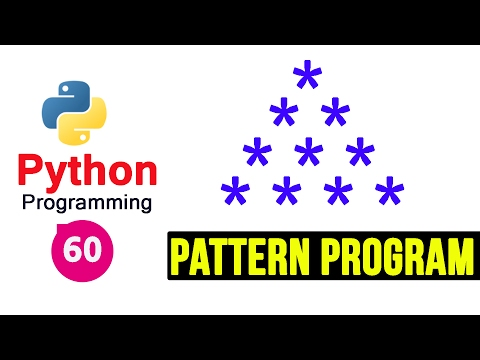 Python 3 Pattern Program 3 - Printing Stars in Pyramid Shape