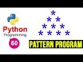 Python Pattern Programs - Printing Stars '*' in Pyramid Shape