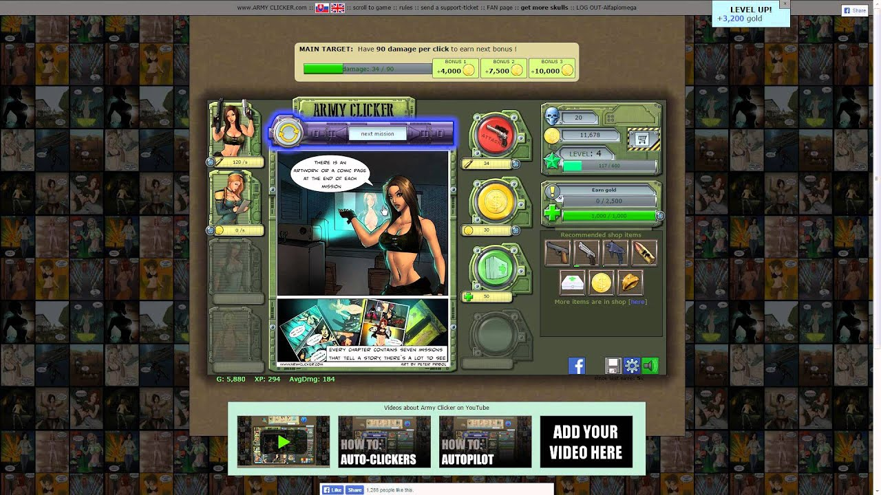 let s play army clicker youtube