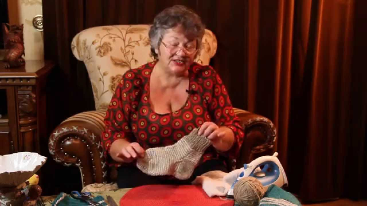 Вязаные носки спицами - как сделать  красивый вид