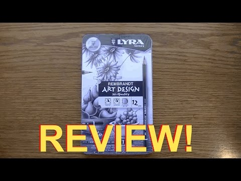 !! REVIEW !!  Lyra Rembrandt Art Design   World's Best Drawing Pencils or bust?