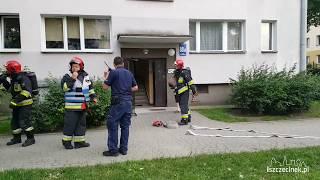 Pożar mieszkania przy ul. Wyszyńskiego. Poparzona kobieta
