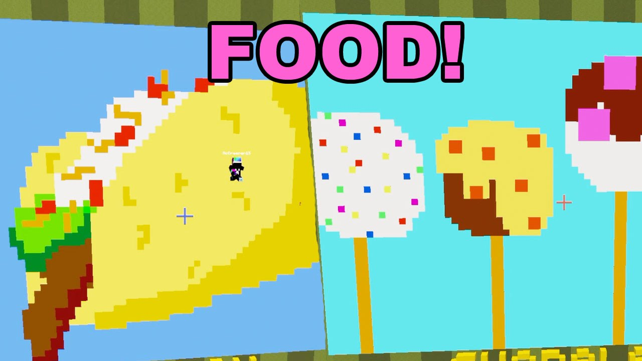 Minecraft / Food Pixel Painters / Dollastic Plays - YouTube