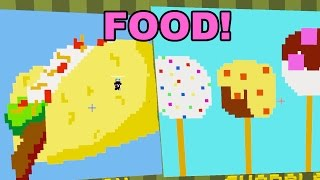 Minecraft / Food Pixel Painters / Dollastic Plays
