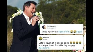 Benidorm fans go wild for Tony Hadley as he makes 'hilarious' cameo
