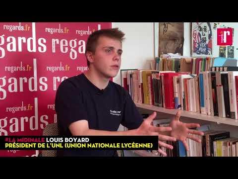 Louis Boyard (UNL): « Le seul moyen de se faire entendre c'est d'appeler à des blocages de lycées. »