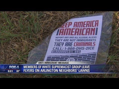 White supremacist group leave flyers in Arlington neighborhood