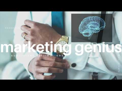 Become a Marketing Genius Subliminal | Smartest Marketer In the World