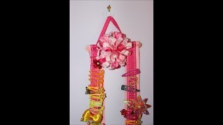 How To Make A Ribbon Hair Bow Holder