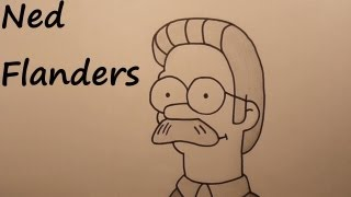 45th drawing: Ned Flanders (Simpsons) [HD]