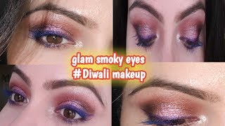 Glam Eye Makeup For Indian wedding ~Tutorial ~Smoky Eyes Step By Step