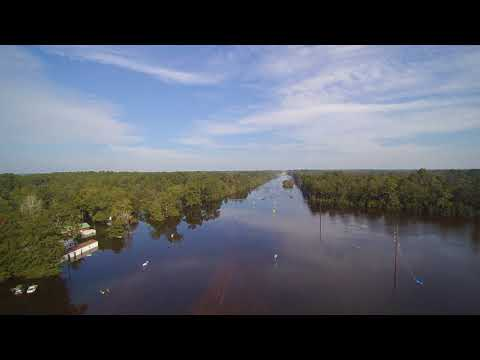 Hwy 69 at Kountze, TX flooded by Harvey 2017