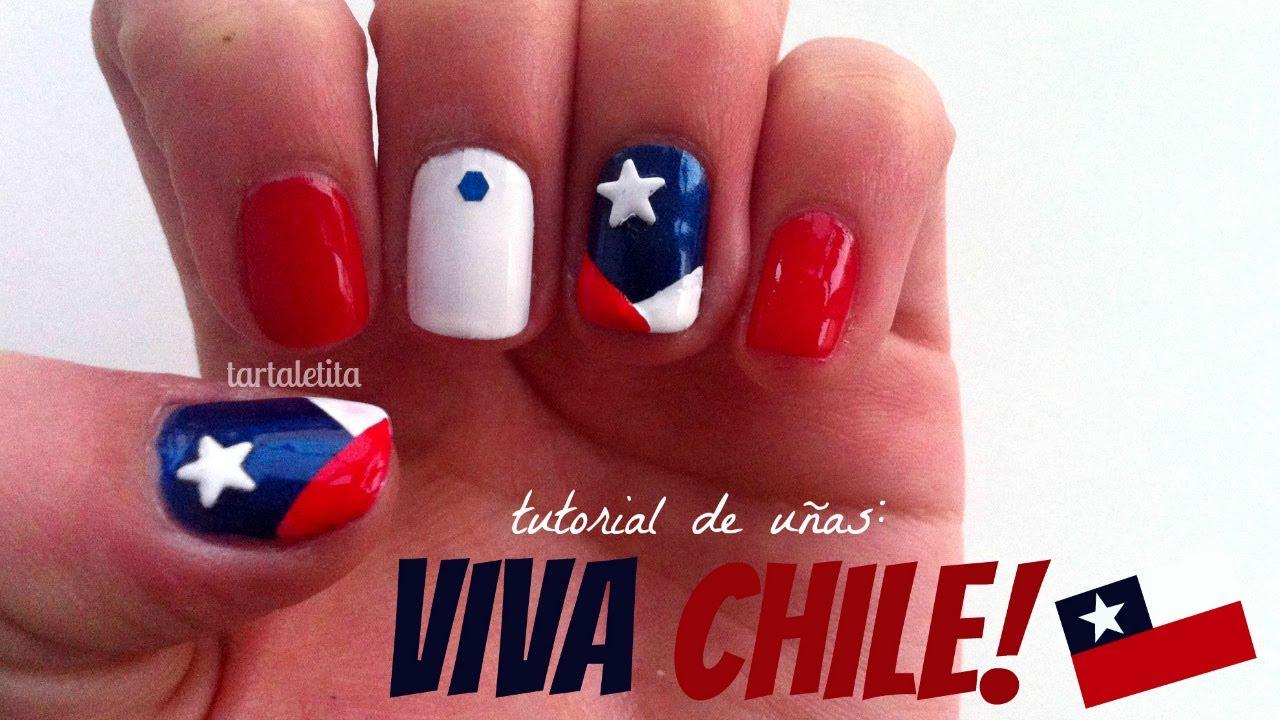 Diseño de uñas: VIVA CHILE!!♥ - YouTube